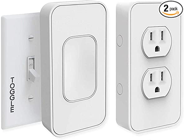 Easy Install w//No Tools Switchmate Slim Wire-Free Smart Light Switch App Controlled Motion /& Voice Activated Snaps Over Toggle Switch work w//Google Assistant 1 Year Warranty Multiple Timers