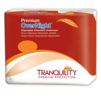 Tranquility Premium Overnight Underwear, Ex-Small, Heavy Absorbency, 2113 - Case of
