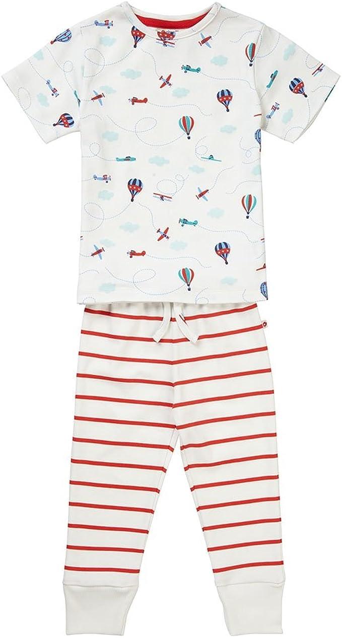 Piccalilly, Pijama Largo, Jersey de algodón orgánico, niños, avión ...
