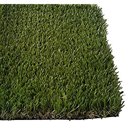 "PZG Premium Deluxe Artificial Grass Patch w/ Drainage Holes | 4-Tone Synthetic Grass Mat | 1.6"" Height 