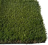 PZG Premium Deluxe Artificial Grass Patch w/ Drainage Holes | 4-Tone Synthetic Grass Mat | 1.6'' Height |Extra-Heavy & Soft Pet Turf | Lead-Free Fake Grass for Dogs or Outdoor Decor | Size: 9' x 6'