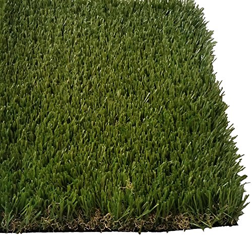 PZG Premium Deluxe Artificial Grass Patch w/ Drainage Holes | 4-Tone Synthetic Grass Mat | 1.6