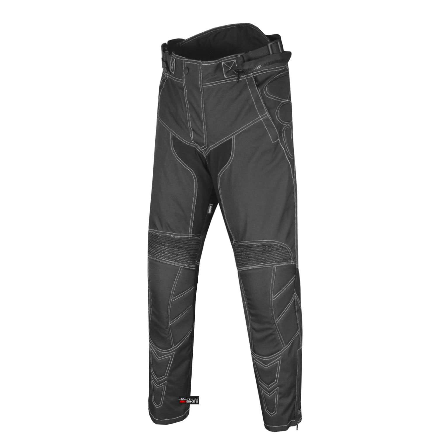 Men's Motorcycle Cordura Waterproof Touring Removable Armor Black Pants 36w 30i