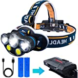 LED ヘッドライト, iToncs USB 充電式 COB ヘッドランプ 防災 …