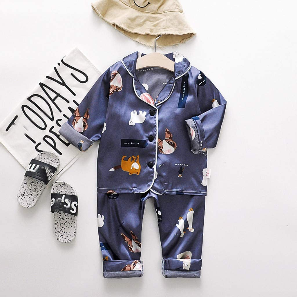 Xmiral Kids Baby Boy Short Sleeve Printed Tops Denim Shorts Outfits Set