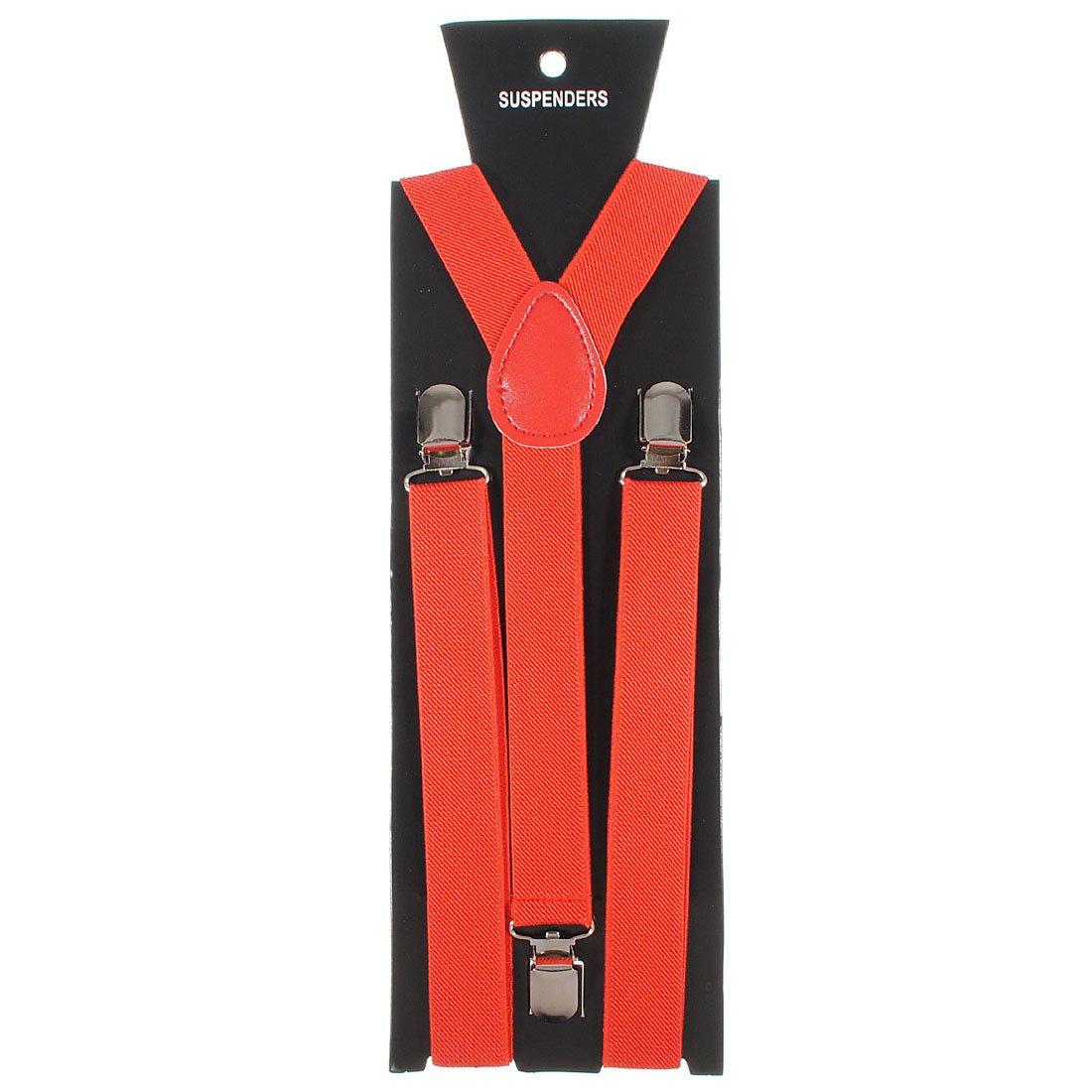 Adjustable Unisex Adult Child Elastic Clip-on Brace Suspender Y back Neon Belt,Red homeking Co. LTD PLW123