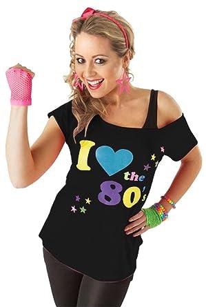 Chocolate Pickle Nouveau Femmes Grande Taille Je Amour Les Années 80 Pop  Étoile Rétro Imprimer Fantaisie Haut Graphique Conception Nuit Party  T,Shirt 36,54