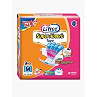 Lifree Super Absorb Adult Tape Diaper M9, 9 count