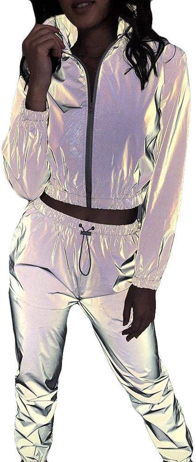 Reflectante Chandal Mujer Deporte Conjunto Manga Larga ...