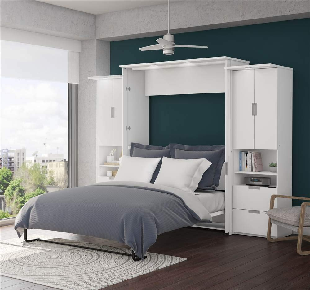 3-Pc Full Wall Bed Set