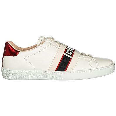 daab61e094e Gucci Chaussures Baskets Sneakers Femme en Cuir ace Blanc EU 39 525269  0FIV0 9086
