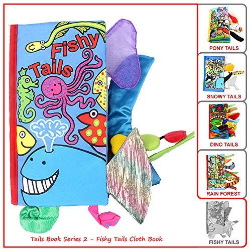 Sea Animal Fishy Tails Book Fabric Soft Cloth