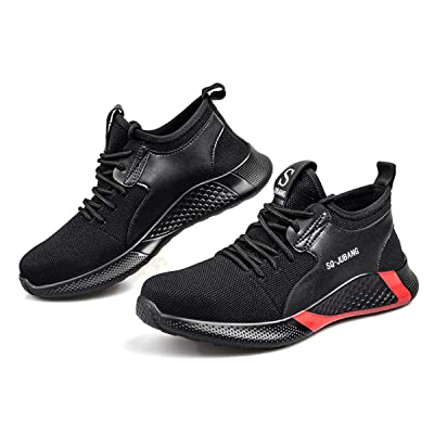 Work Steel Toe Shoes for Men and Women Lightweight Breathable Safety Shoes Slip Resistant Waterproof Industrial and Construction Shoe: Shoes