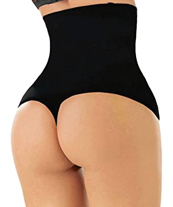 651ec8e8d SAYFUT Women s Hi-Waist Tummy Control Thong Panties Body Shaper Waist  Trainer