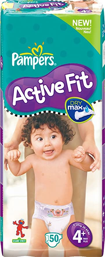 Pampers Active Fit Pañales Tamaño 4 + Maxi + (9 – 20 kg),