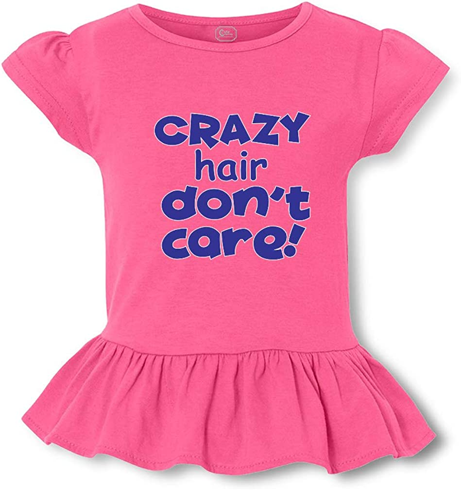 Crazy Hair Don't Care Short Sleeve Toddler Cotton Girly T-Shirt Tee