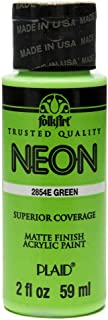 product image for FolkArt Neon Acrylic Paint in Assorted Colors (2 Ounce), 2854 Neon Green