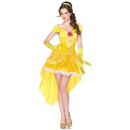 Amazon Com Enchanting Belle Adult Costume Small Medium Toys Games