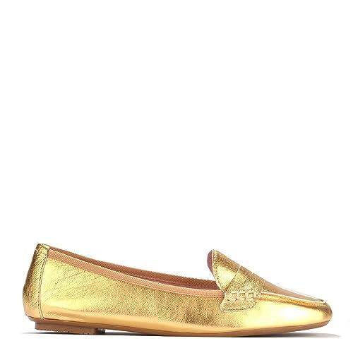Elia B Rita Mocasines, Mujer 39 EU Oro: Amazon.es: Zapatos y complementos