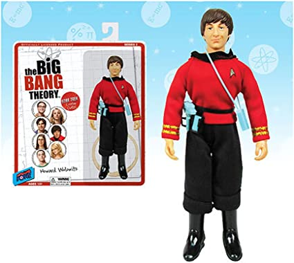 The Big Bang Theory Star Trek The Next Generation 3 3//4-Inch Figures Set Con Ex