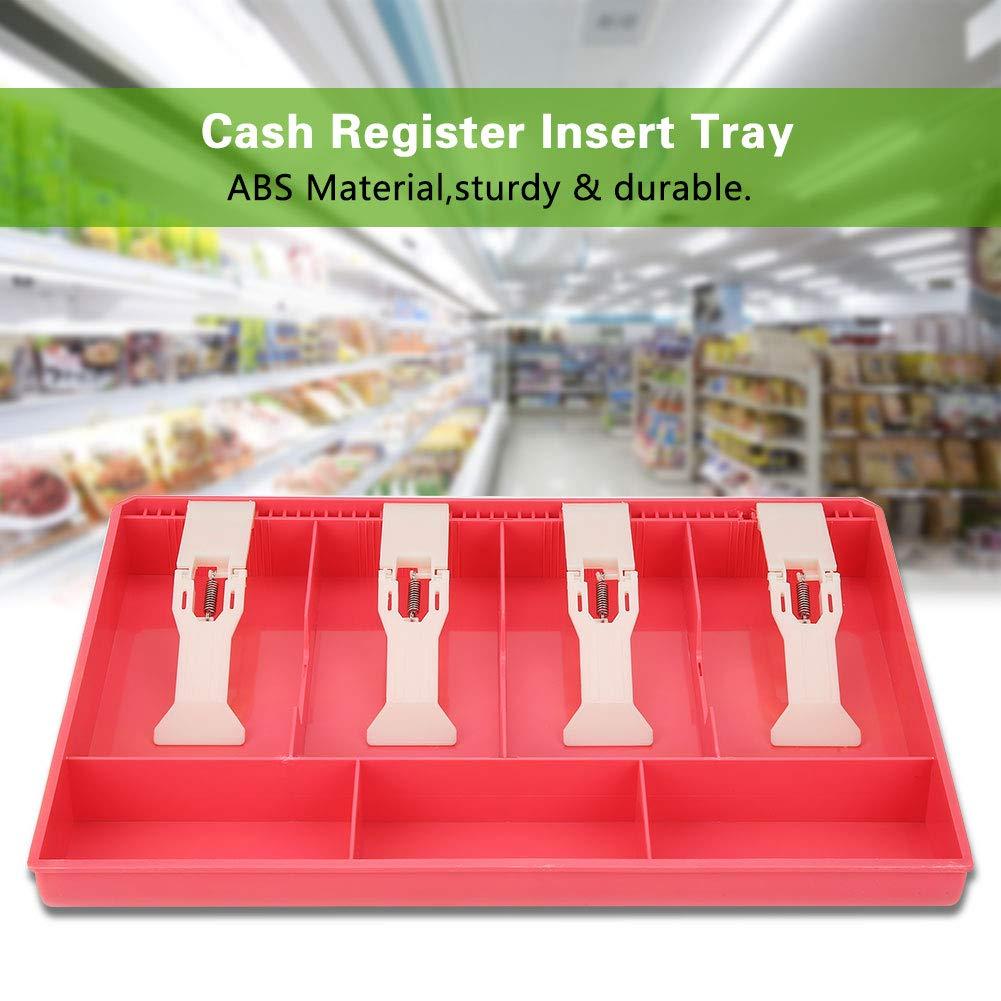 Color : White Caja de Almacenamiento de Dinero de 4 Billetes 3 Monedas Caja registradora Bandeja de Efectivo Reemplazo de la Bandeja de inserci/ón