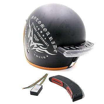 Luxtech Motocicleta Intermitente LED Casco de Motocicleta Intermitente LED luces de freno - luces de señal