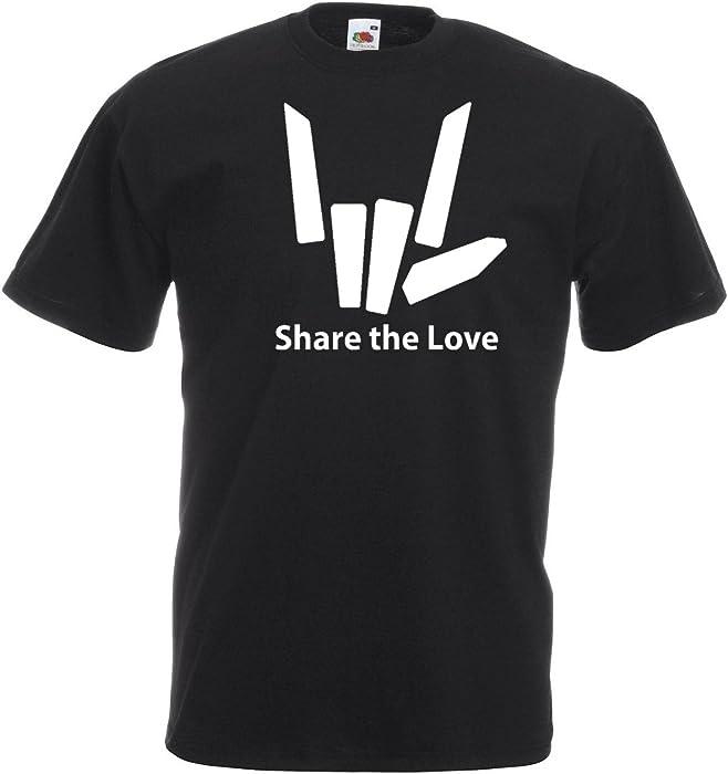 Cotton,100/% Cotton Women Mens Share The Love Black Logo T-Shirt Kids