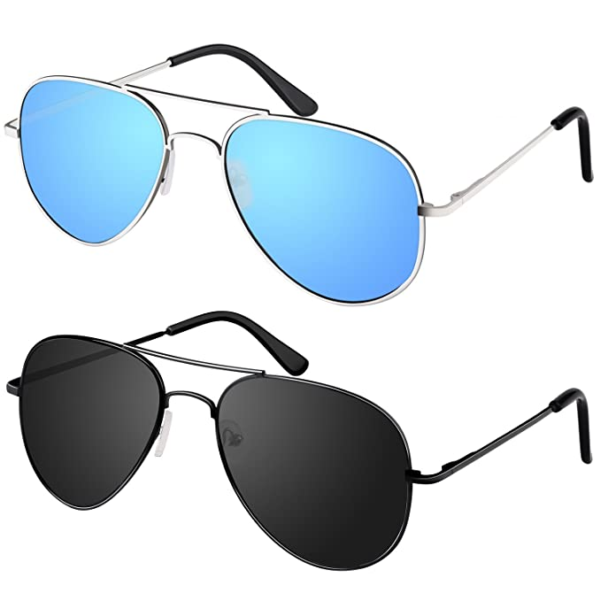 Amazon.com: Young4us Aviator - Gafas Espejo anteojos de sol ...