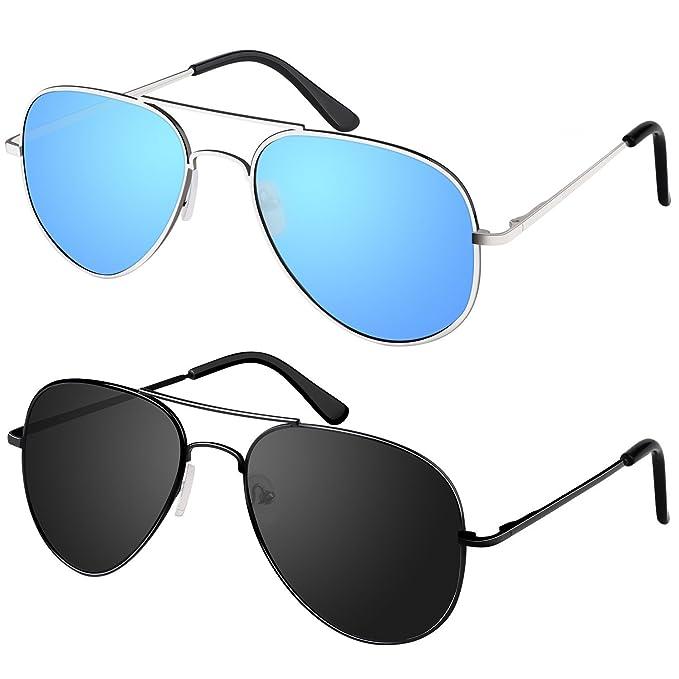 Amazon.com: Young4us Aviator - Gafas Espejo anteojos de sol ...