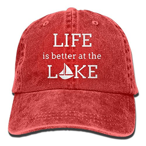 The Cap Cake Walnut Women 1 béisbol Baseball Baseball at 1 Adjustable Hat Denim Life Gorras Better is Sports Cap Lake fRnqRx