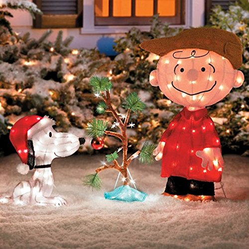 Charlie Brown, Snoopy & The Lonely Tree Lighted Outdoor Christmas Decoration