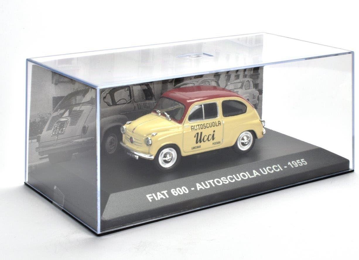Ref 000 VEHICULES PUBLICITAIRES FIAT 600 Driving School 1955