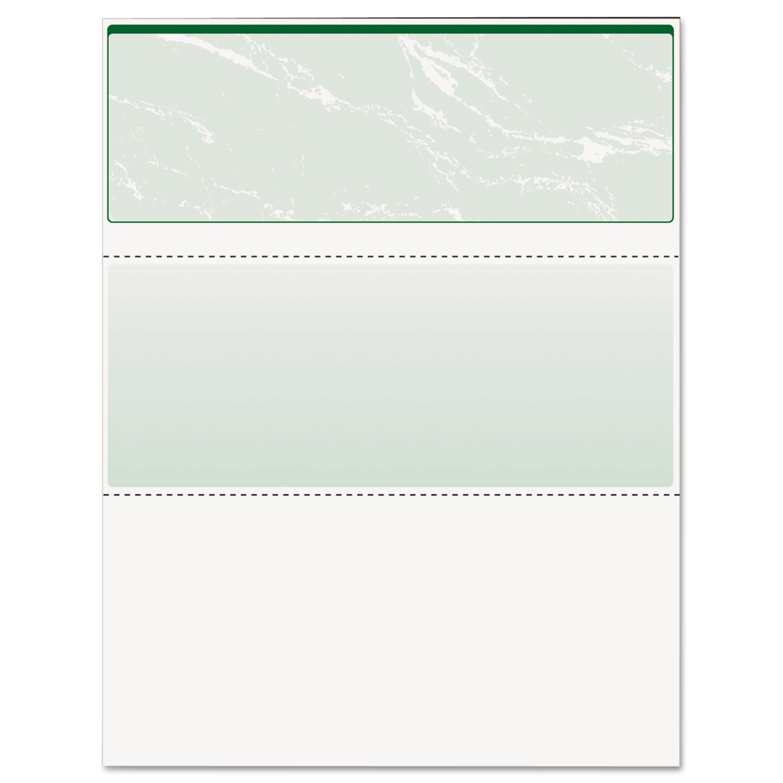 DocuGard Green Marble Top Check, 8.5 x 11 Inches, 24 lb, 500 Sheets, 1 Check Per Sheet (04502)