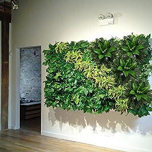 HO2NLE 2PCS Artificial Boston Ferns Shrubs Silk Fake Greenery Plants Home Garden Wedding Patio Outdoor Balcony Hanging Pot Decor 4