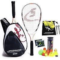 Speedminton® S900 Set – originele Speed badminton/crossminton professionele set met carbon rackets incl. 5 Speeder…