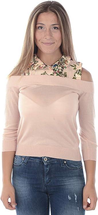 Elisabetta Franchi - Camisa Mujer MK11S86E2V294 MK11S86E1 Camisa Tricot Rosa