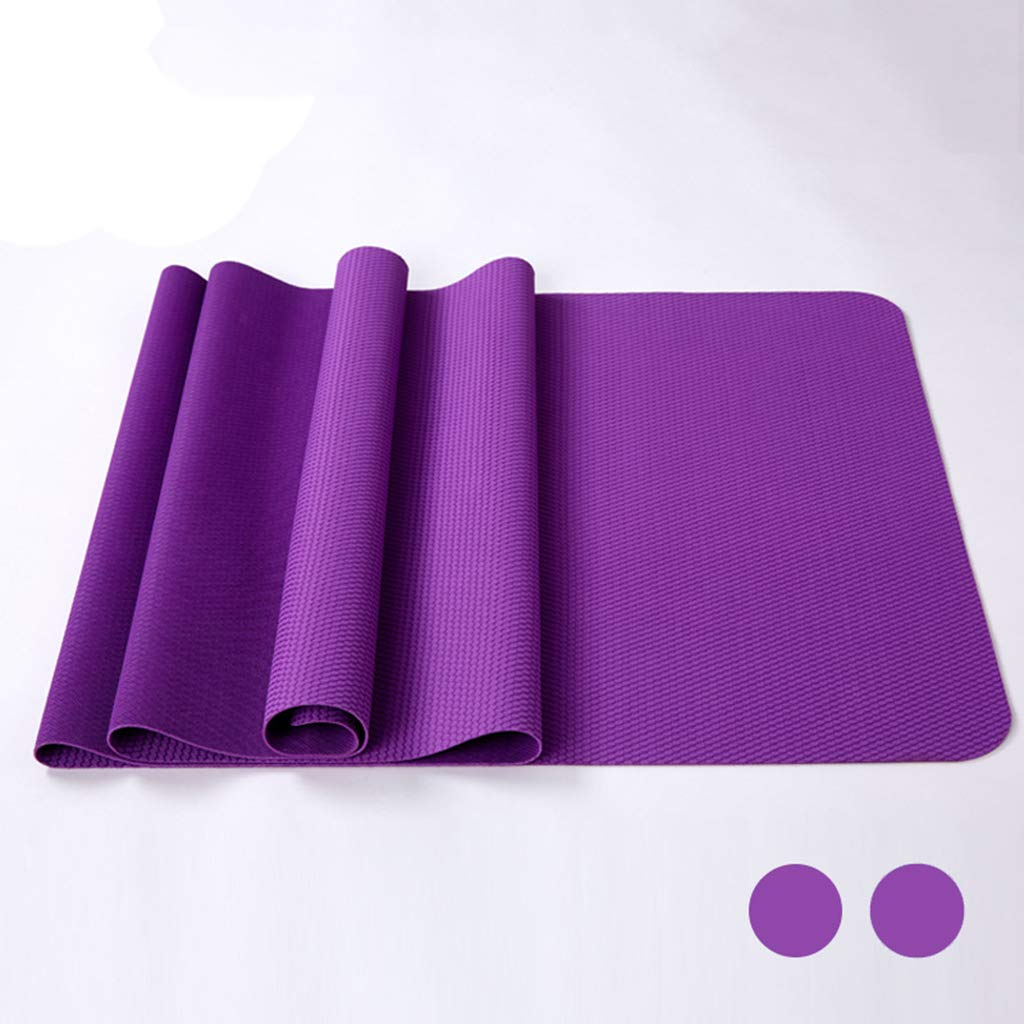 Zywtrade Ultradünne Zusammenklappbare Naturkautschuk Yoga Matte Umweltfreundliche Yoga Matte Fitness Matte Rutschfeste Yoga Matte Klapp Yoga Matte (Lila)