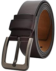 """Men Dress Belt 35""""-62"""" Waist Genuine Leather Jeans Casual for Regular & Big and Tall"""