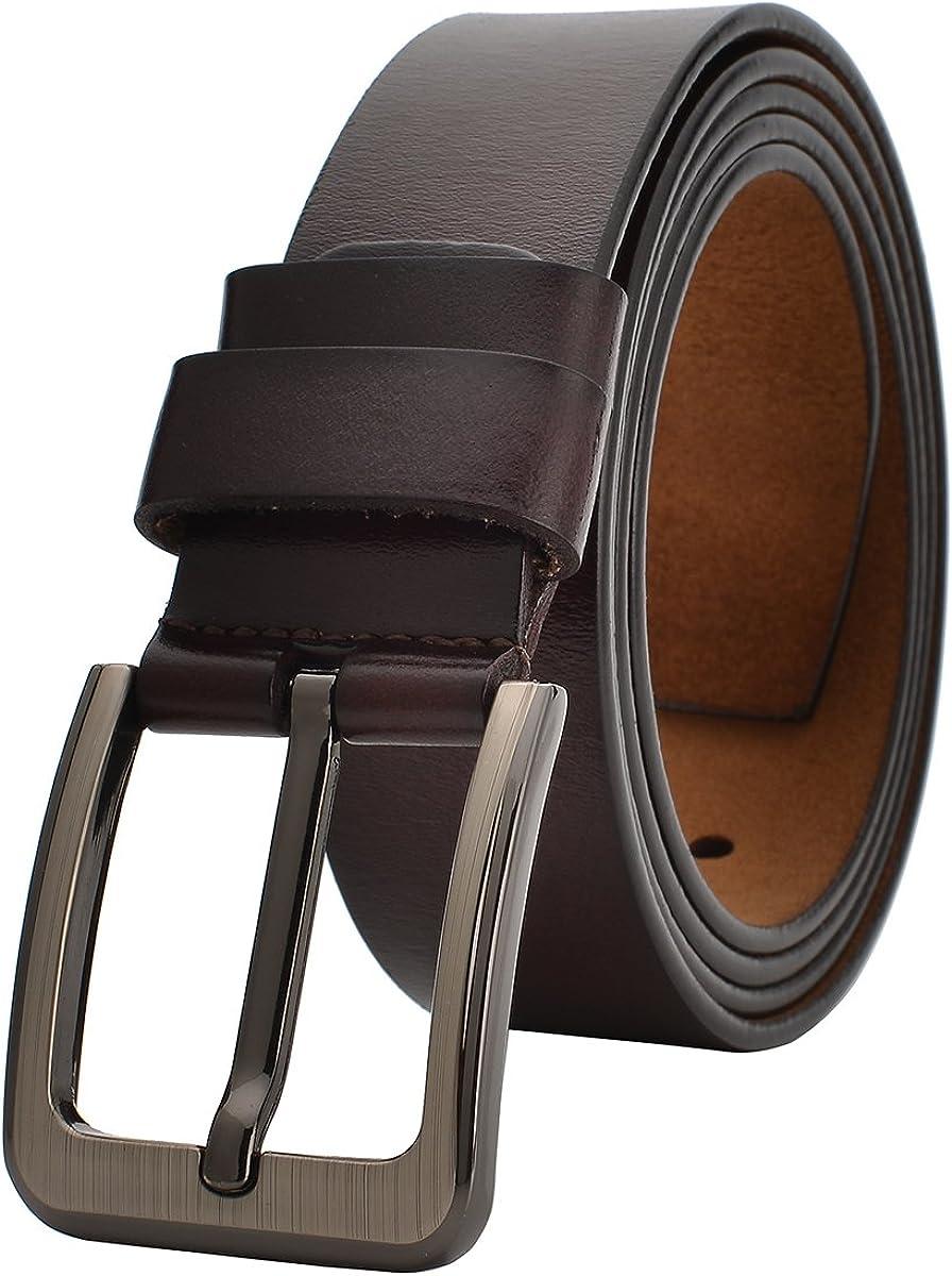 VRLEGEND Lederg/ürtel Herren 110-175cm G/ürtel Leder Jean Business Metall Retro Jeansg/ürtel Vollrindleder 38mm Breite