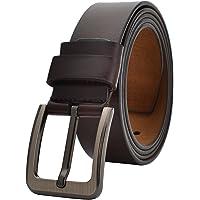 VRLEGEND Ledergürtel Herren 110-175cm Gürtel Leder Jean Business Metall Retro Jeansgürtel Vollrindleder 40mm Breite