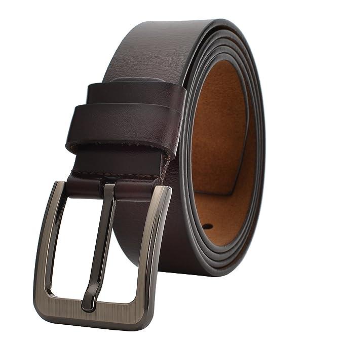VRLEGEND Cinturones Casual Hombre Cinturón Vintage Cuero ...