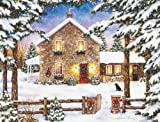 LANG - ''Nestled in the Pines'', Boxed Christmas Cards, Artwork by Laura Berry'' - 18 Cards, 19 envelopes - 5.375'' x 6.875''