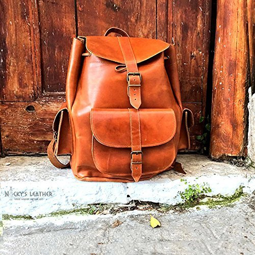 LEATHER BACKPACK from Real Full Grain Leather by Nickys Leather