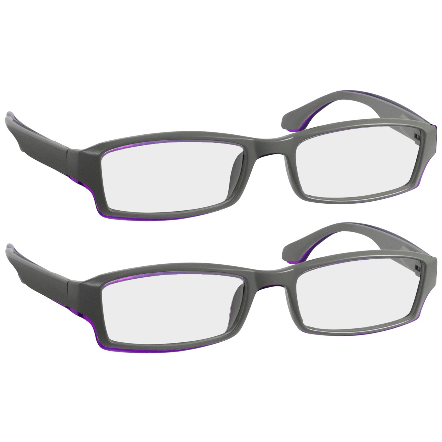 370585fd05f6 Amazon.com  Reading Glasses 5.5 Red (2 Pack) Best Readers for Men and Women  - Stylish Look and Crystal Clear Vision When You Need It!Spring Arms ...