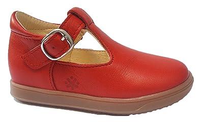 Acebo's Spangenschuhe Ballerinas Rot: : Schuhe