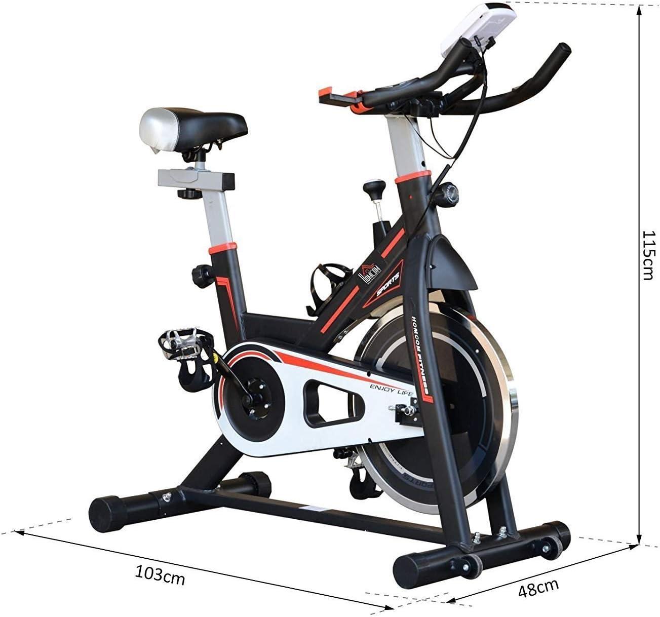 DFMD Bicicleta de Ejercicio Profesional para Interiores, Volante Fresco, cinturón Ultra silencioso, hogar, pérdida de Peso Abdominal, Bicicleta para Ejercicios, Pantalla LED, Soporte para Tableta: Amazon.es: Deportes y aire libre