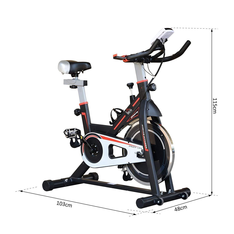 DFMD Bicicleta de Ejercicio Profesional para Interiores, Volante ...