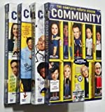 COMMUNITY Seasons 1-4 DVD Sets (TV Show - Seasons 1 2 3 and 4 DVD Sets) Joel McHale, Chevy Chase, Ken Jeong and Alison Brie (Comedy Sitcom)