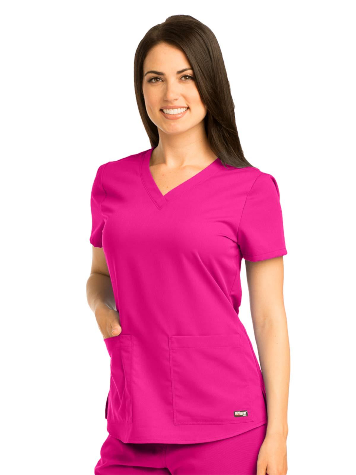 Grey's Anatomy 71166 V-Neck Top Raspberry Tart 5XL