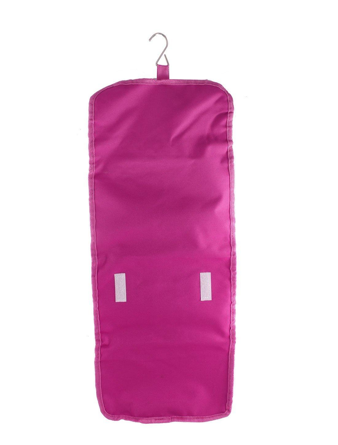 Amazon.com: Maquillaje eDealMax de Nylon Bolsa de la caja cosmética de almacenamiento Organizador Neceser Rosa: Health & Personal Care